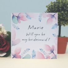 Personalised Will You Be My Bridesmaid Card, Keepsake Card